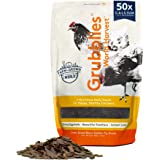 Grubblies World Harvest– Natural Grubs for Chickens - Chicken Feed Supplement with 50x Calcium, Healthier Than Mealworms - Bl