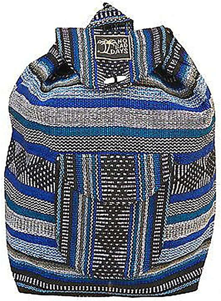 No Bad Days Baja Backpack Ethnic Woven Mexican Bag