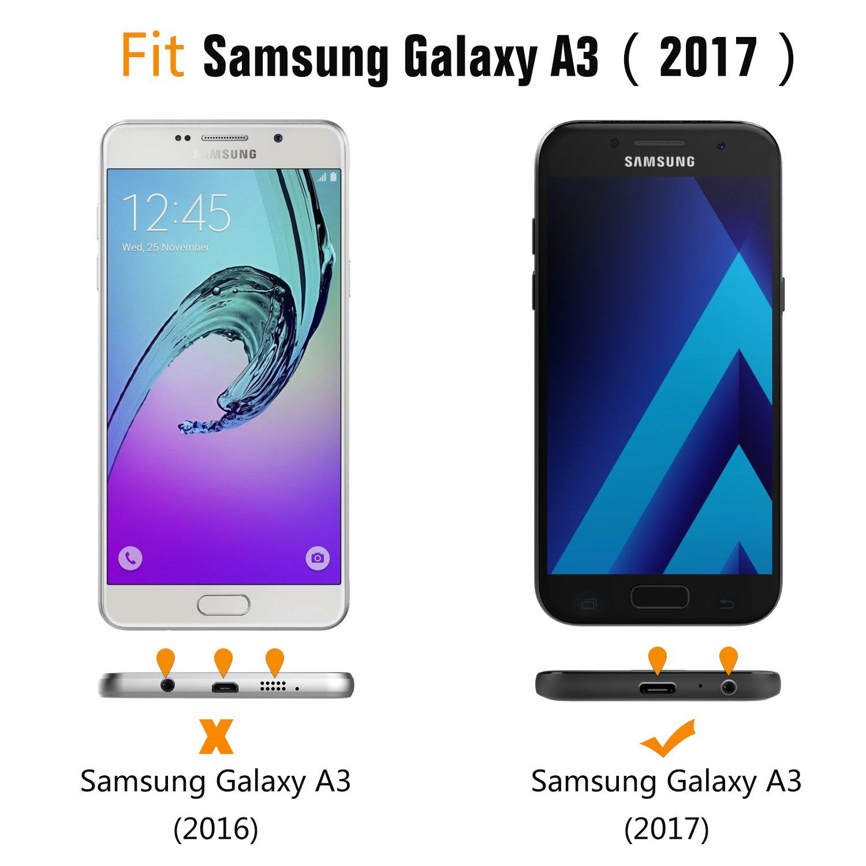 Amazon.com: Galaxy A3 2017 Caso, Moko absorbe los golpes TPU ...