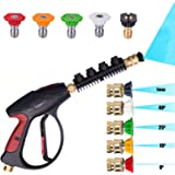 KARCLIN 8609097 3000 PSI High Pressure Washer Gun Water Jet Car Wash Gun,M22 Thread, with 5-color Pressure Water Washer Nozzles