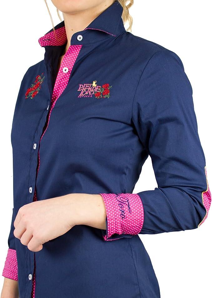 Piel de Toro 42142544 Camisa, Azul (Azul Marino 01), Large (Tamaño ...
