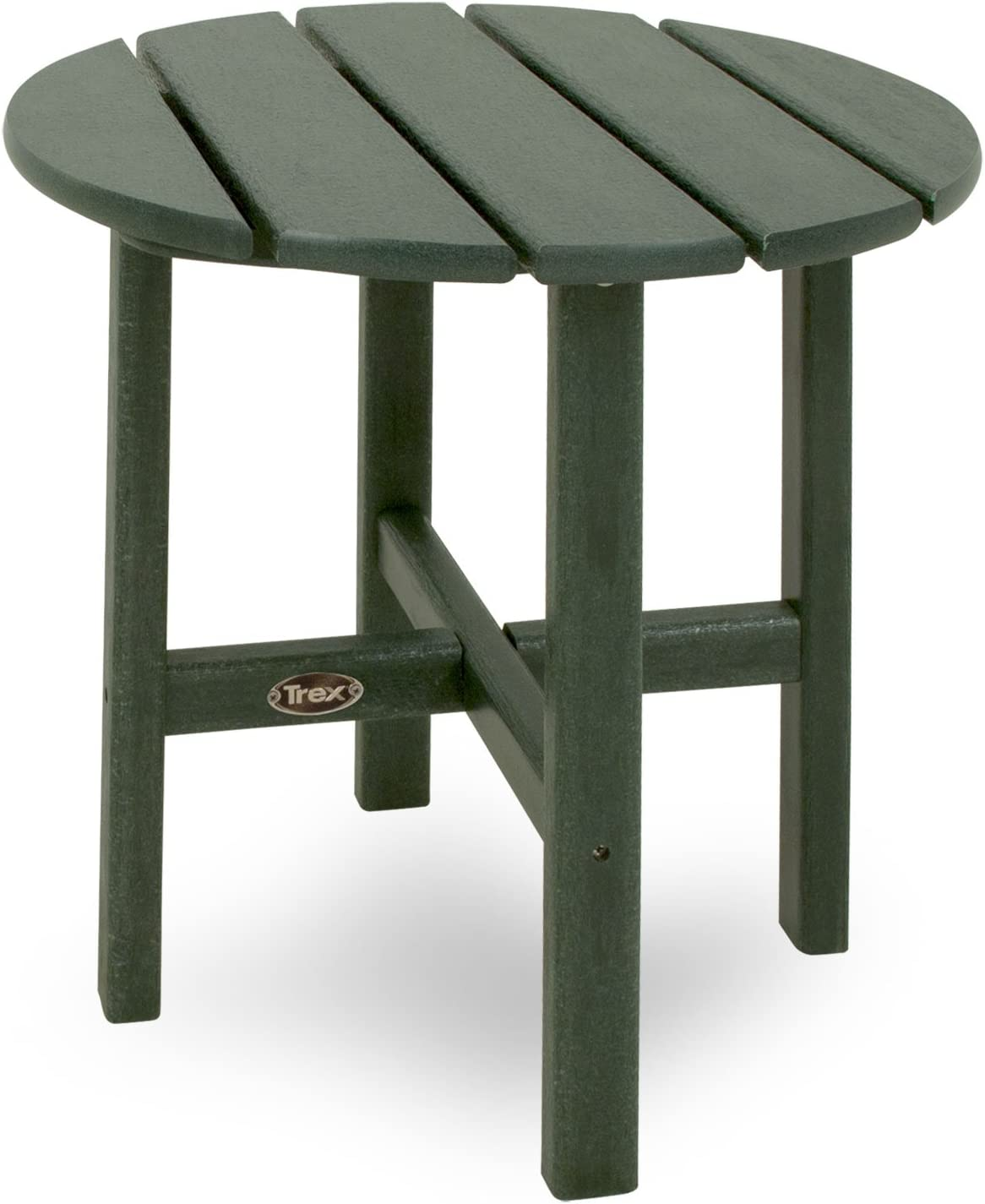 Trex Outdoor Furniture Cape Cod Round 18-Inch Side Table, Rainforest Canopy