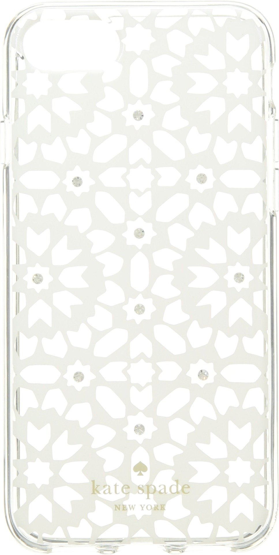 Kate Spade New York Women's Jeweled Floral Mosiac Clear Phone Case for iPhone 8 Clear Multi One Size