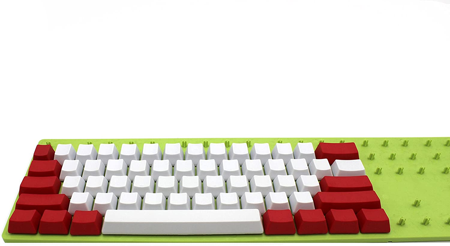 Blank 87 White red Thick PBT OEM Profile Keycap for MX Switches Mechanical Keyboard Only Keycap