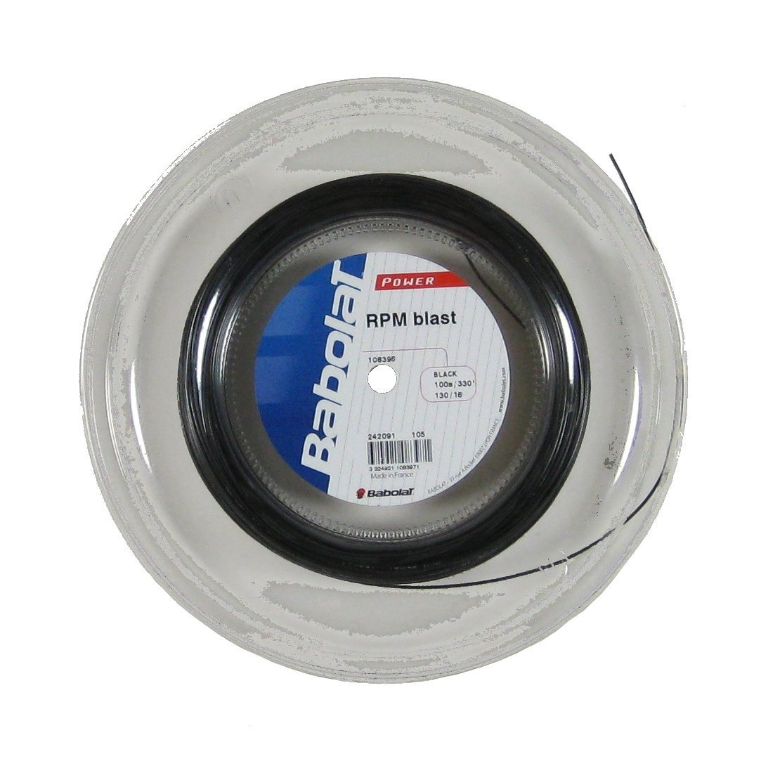 Babolat RPM Blast Tennis String - 100m / 330 feet Mini Reel - Choice of Gauge (16 Gauge)