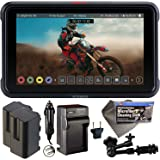 "Atomos Ninja V 5"" Touchscreen Recording Monitor 10bit HDR with 2X NP-F750 Batteries, Charger, 7"" Magic Arm + Cleaning…"