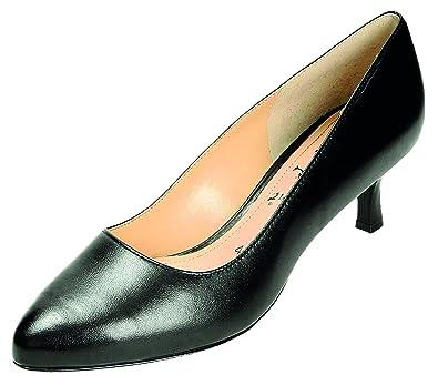 Schwarz bequem Damen Pumps Doc Comfort Fußbett Leder Schuhe