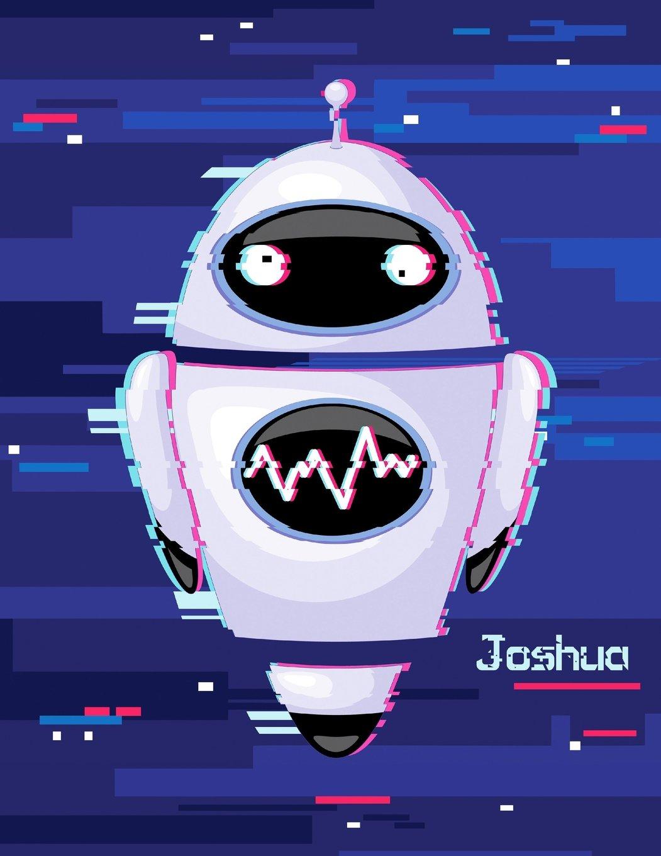 "Joshua: Personalized Large Print Discreet Internet Website Password Organizer, Birthday, Christmas, Friendship Gifts for Men, Teens, and Boys, 8 1/2"" x 11"" PDF"