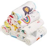 BelleStyle Mousseline washandjes babyhanddoeken, van natuurlijk biologisch katoen, zachte pasgeboren babyhanddoek en…