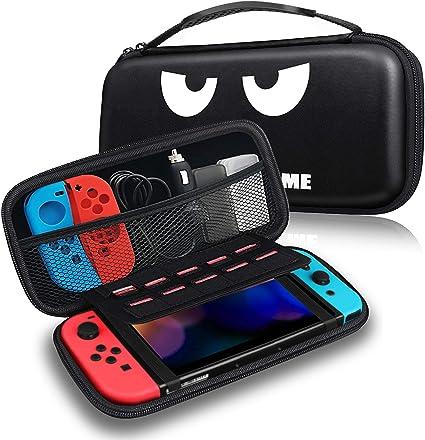 Fintie Funda Portátil para Nintendo Switch - Estuche para Viaje Bolsa de Transporte con 10 Ranuras para Tarjeta de Juego y Bolsillo para la Videoconsola Joy-con de Nintendo Switch, No Tocar: Amazon.es: