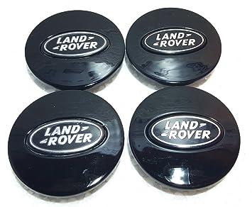 Tapacubos negros para neumáticos de Land Rover Discovery 3 y 4, Freelander 1 y 2 de 63 mm: Amazon.es: Coche y moto