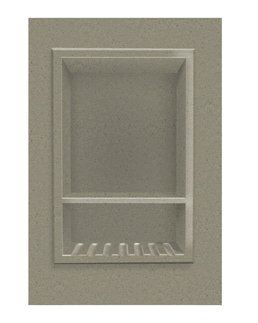 Transolid ACCESS0003-A3 Decor 10 x 15-Inch Recessed Shampoo Caddy, Peppered Sage by Transolid