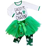 Amazon Price History for:So Sydney Toddler Girls 2 Pc St. Patrick's Day Shamrock Green Holiday Outfit