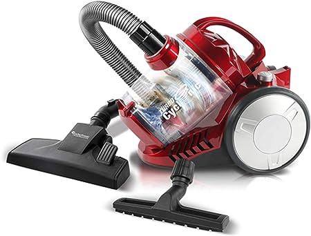 900 W turbot Electronic – Aspirador ciclónico, Genera > 19 kPa absorción, 2,5 litros, filtro HEPA, sin bolsa rojo: Amazon.es: Hogar