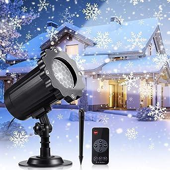 Proyector Navidad LED, Luces de Navidad con Control Remoto ...