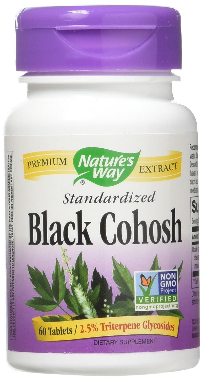海外直送品Black Cohosh, Standardized 60 Tabs by Nature's Way B00014DRA0
