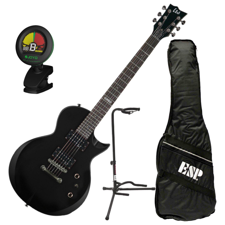 Esp Ltd EC-10 BLK - Guitarra eléctrica w/bolsa de concierto, sintonizador, y soporte: Amazon.es: Instrumentos musicales