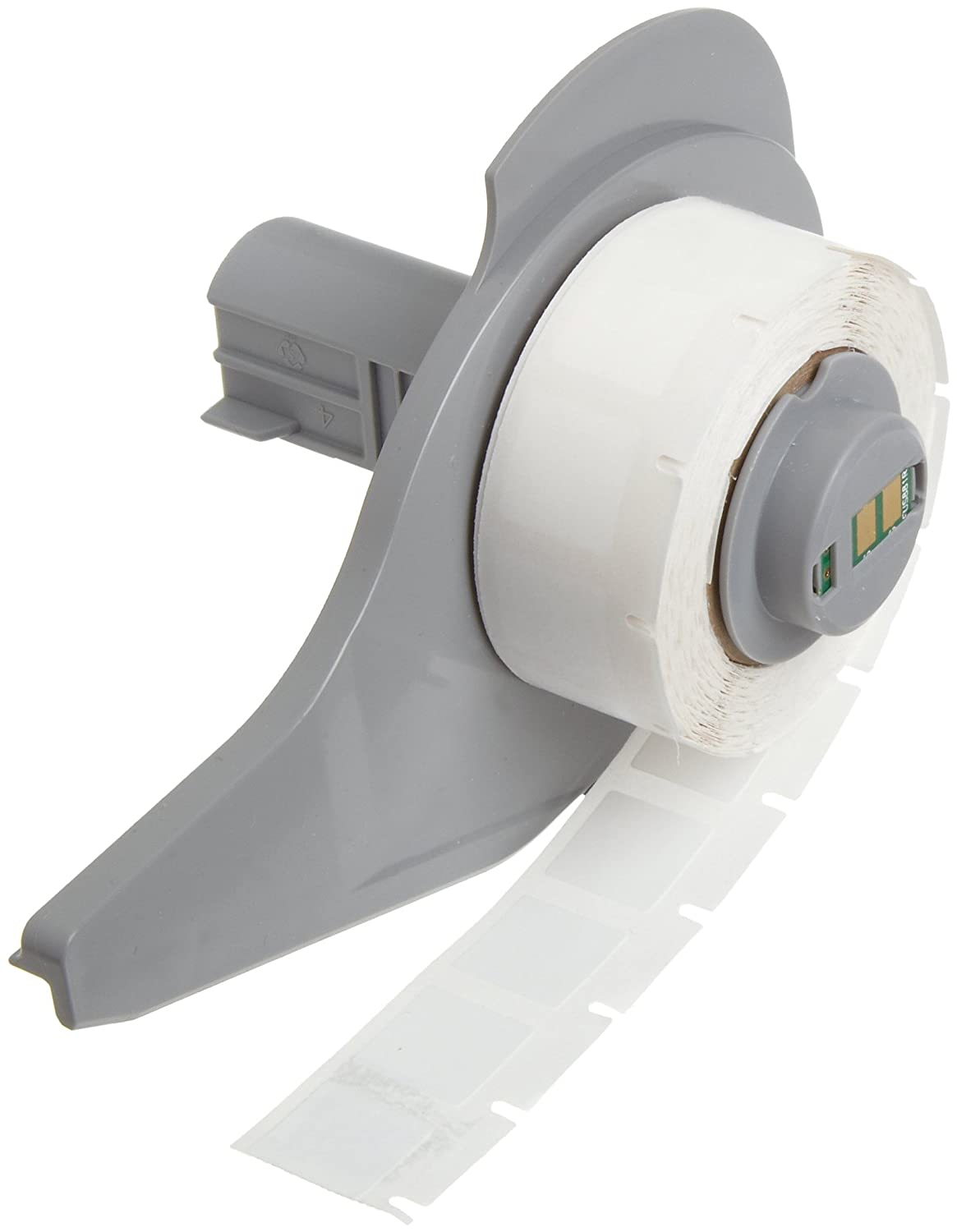 Brady M71-6-423 BradyBondz 0.5 Width x 0.275 Height White Color B-423 Permanent Polyester Labels With Gloss Finish For BMP71 Thermal Transfer Portable Printer 750 Per Roll