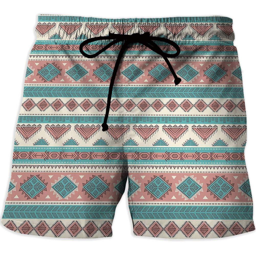 01bc54369a Amazon.com: Men's Swimwear Grid,Watercolor,Men's Board Short Swimwear,Diamond  Pattern with: Clothing
