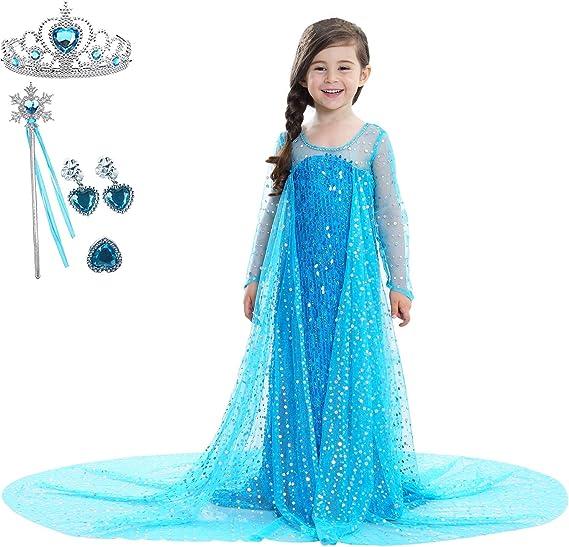 CosPrincely Disfraz de Princesa Niña Traje del Vestido Disfraz de ...