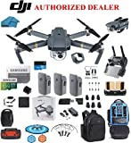 DJI Mavic Pro volar más Combo Portable plegable Mini Racing Drone con 3pilas Total, DJI–Mochila de viaje + 264GB SanDisk Extreme Tarjetas SD + 3.0Card Reader, Cargador de Coche, WITH BACKPACK