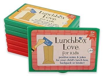 Fiambrera Love notas adhesivas para chicos con 6 volúmenes de chistes y 2 volúmenes de diversión