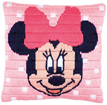 Amazon.com: Disney Minnie Mouse Cushion Long Stitch Kit
