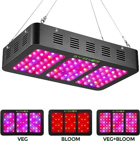 1500 W DEL Grow Light avec Bloom et Veg Switch 15 W Triple-chips pour plantes