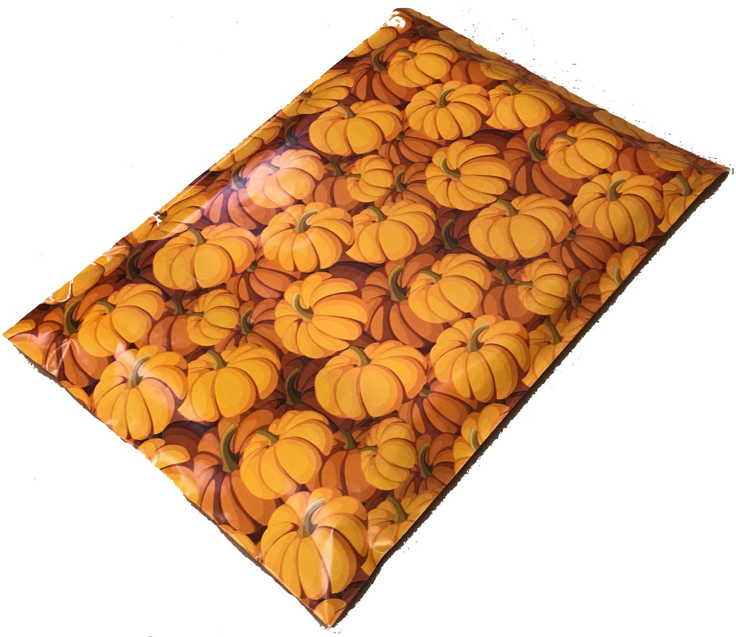 Poly Mailers Pumpkins Designer Poly Mailers Custom Bags Orange Shipping Envelopes Plastic Bags #SmileMail (100 10x13)