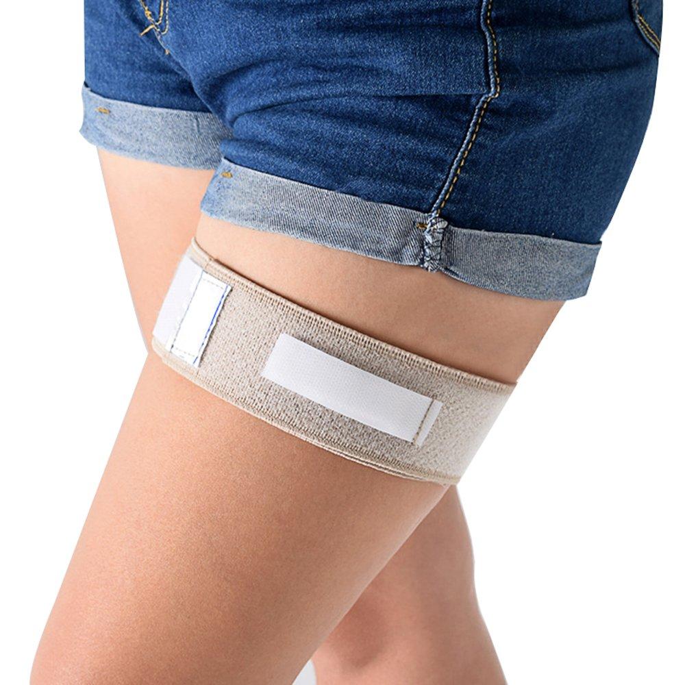 Genmine Catheter Holder, Catheter Leg Strap Catheter Fixation Tape Leg Holder Urinary Incontinence Supplies Catheter Leg Band Strap Wrap Tube Bag Holder