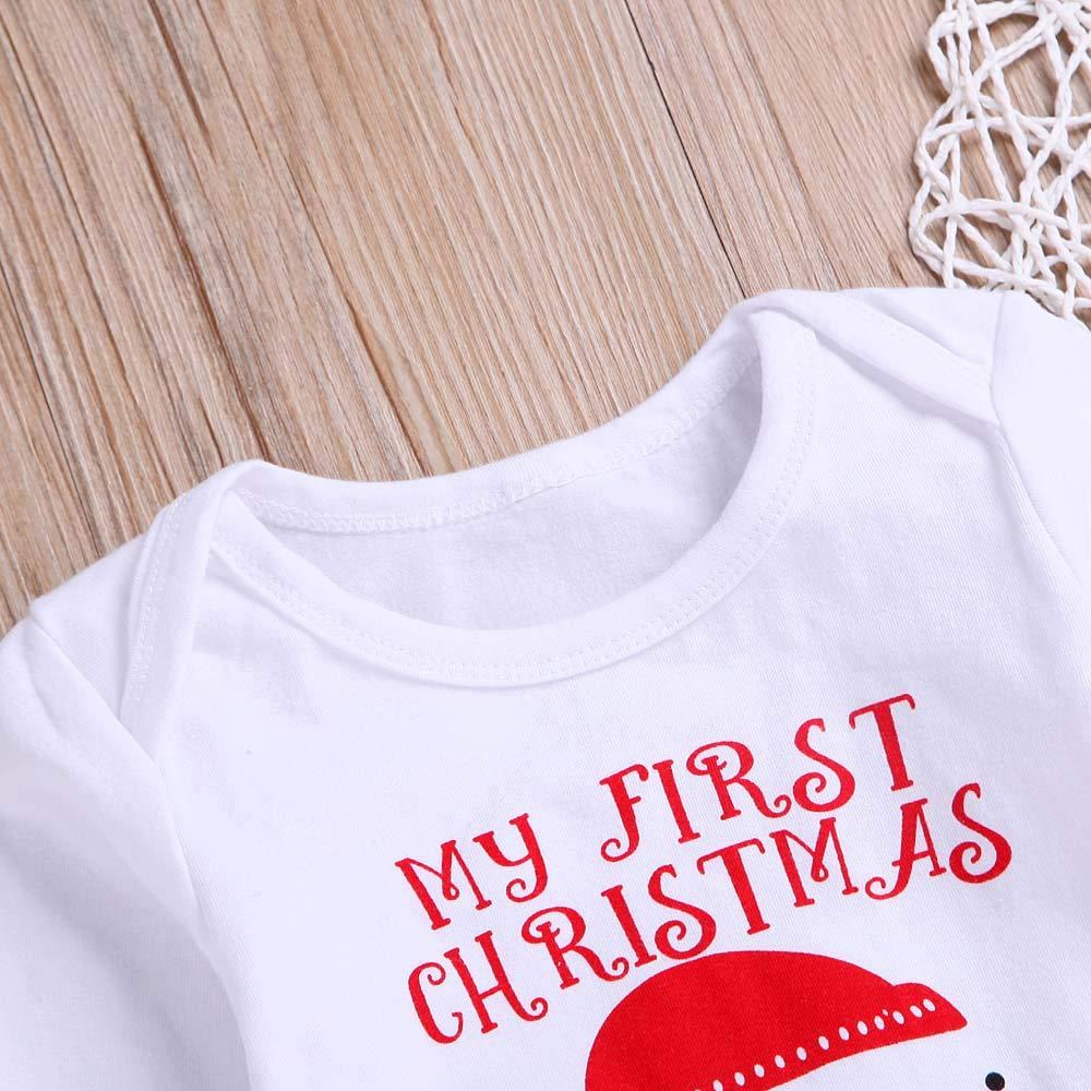 SHITOU Newborn Baby Girls Boys Long Sleeves Snow Man Print Romper Jumpsuit Kids Clothes