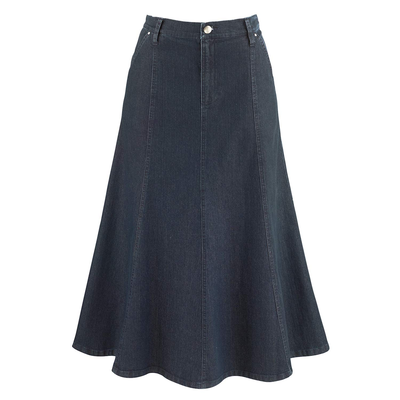 """Women's 8-Gore Denim Riding Maxi Skirt - 31.5"""" Long"""