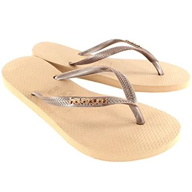 4b0da811ef67a9 Havaianas Womens Slim Logo Metallic Flip Flop Summer Beach Sandal - Rose  Gold - 10