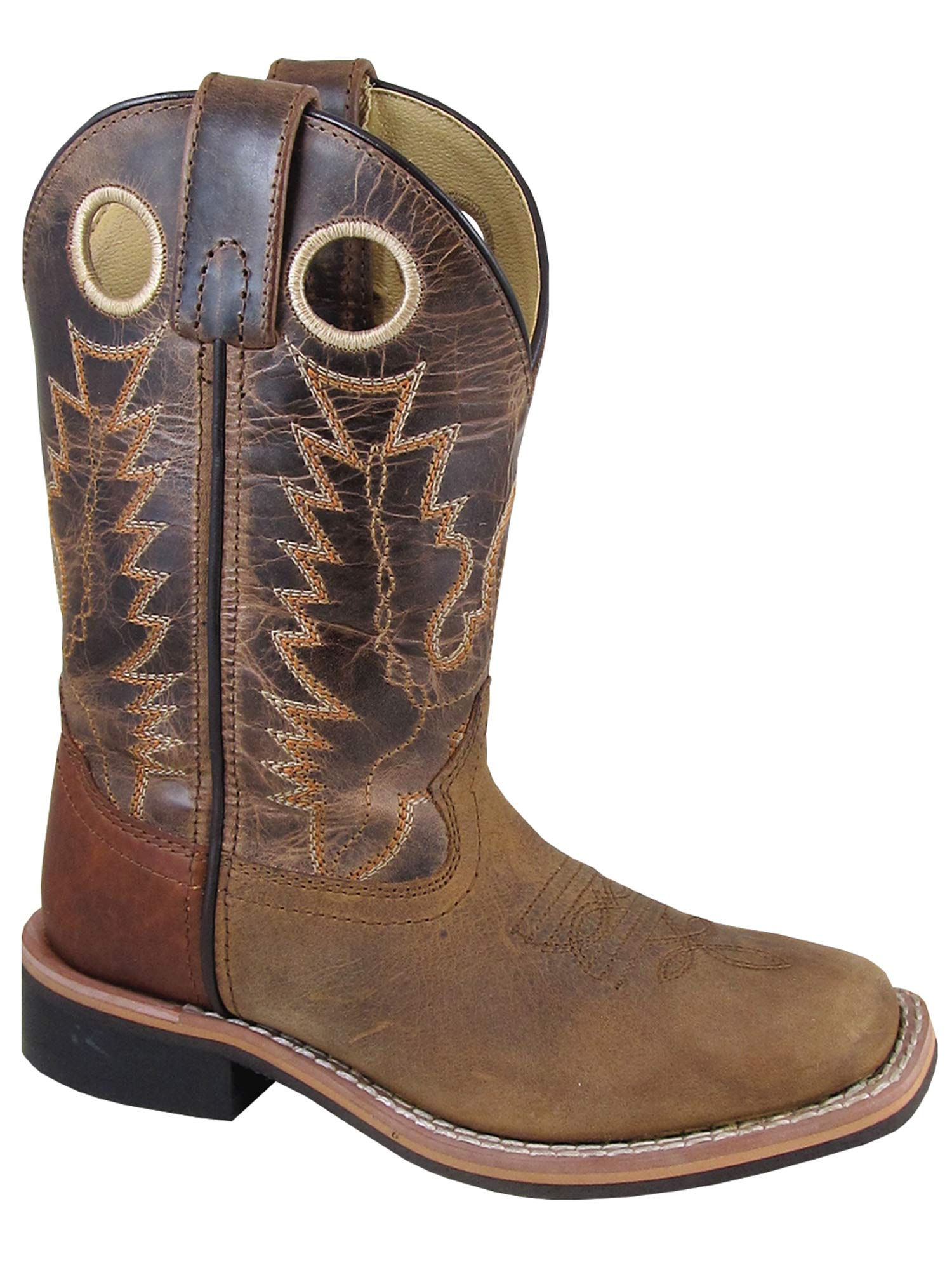 Smoky Jesse Children Cowboy Boot, Brown, 7M