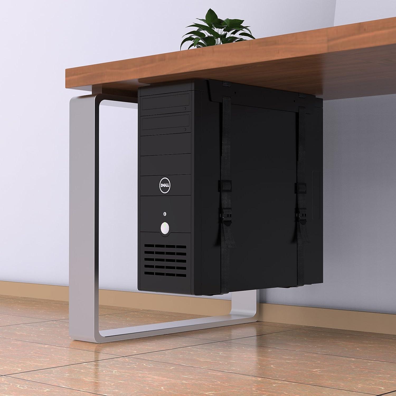 1home Debajo Escritorio Torres PC CPU Soporte con Correas Caja de ...