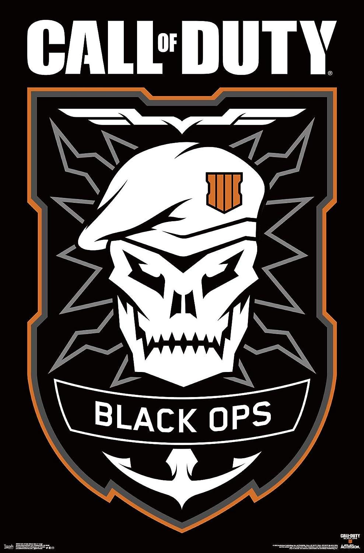 Amazon Com Trends International Call Of Duty Black Ops 4 Logo 22 375 X 34 Unframed Version Home Kitchen