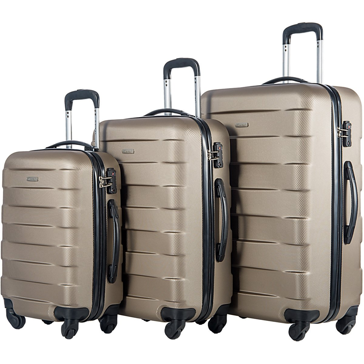 Merax MT Imagine TSA Luggage Set 3 Piece Spinner Suitcase by Merax
