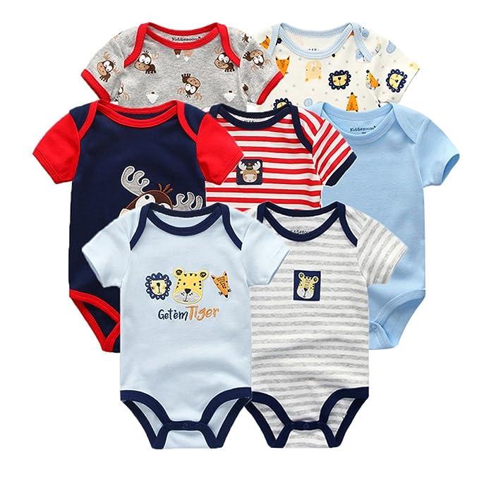 Amazon.com: Rompers - Mono para bebé, 100% algodón, para ...