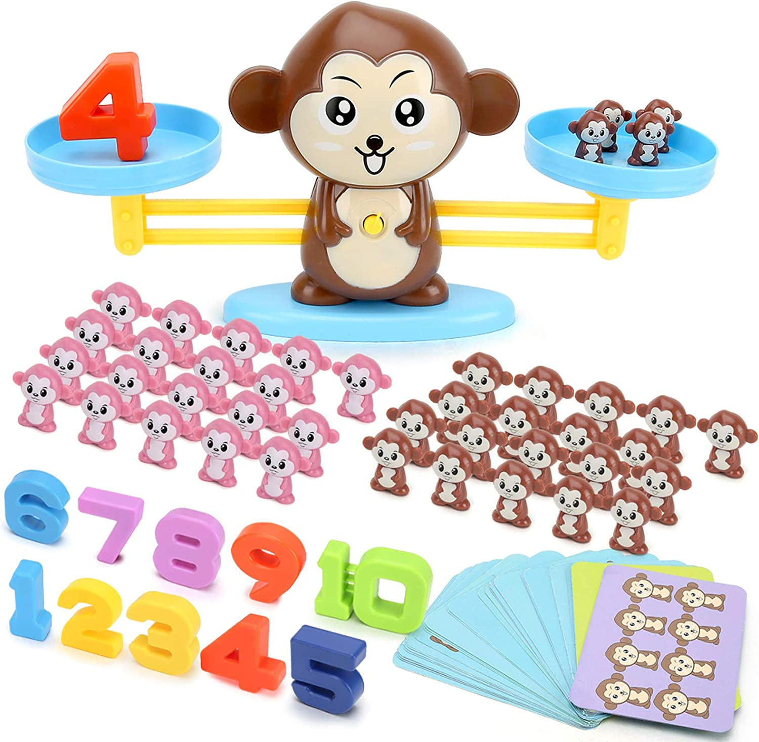 JIMI Counting Game Cow Balance Cool Math Game Educational Learning STEM Toys for Kids Girls /& Boys Gift Ages 3+