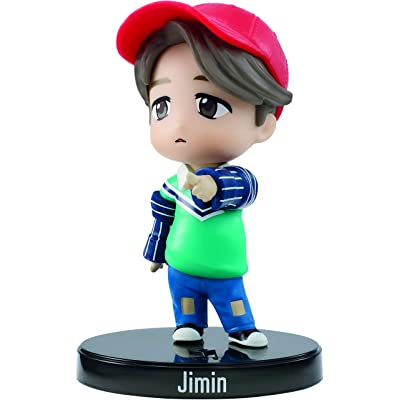 Bangtan Boys BTS 3-in Jimin Idol Mini Vinyl Doll with Base, Based on Global Boy Band, Highly Portable Figure, Toy for Boys and Girls Age 6 and Up.: Toys & Games
