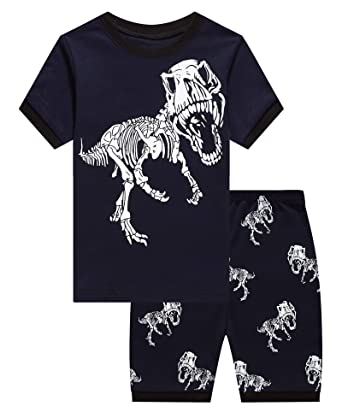 90909602d48e Amazon.com  Boys Pajamas Set Kids Short Pjs Sets Baby Summer Cotton ...