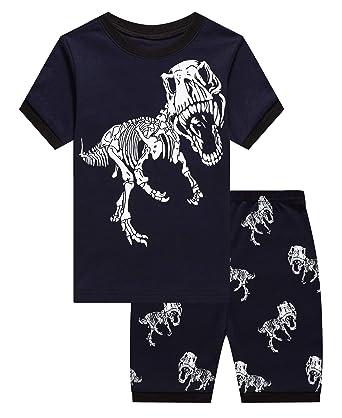 eb6ab2907 Amazon.com  Boys Pajamas Set Kids Short Pjs Sets Baby Summer Cotton ...