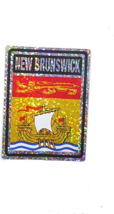 Nova Scotia LONG Metallic Bumper Sticker Decal . Canada Provincial Flag Size