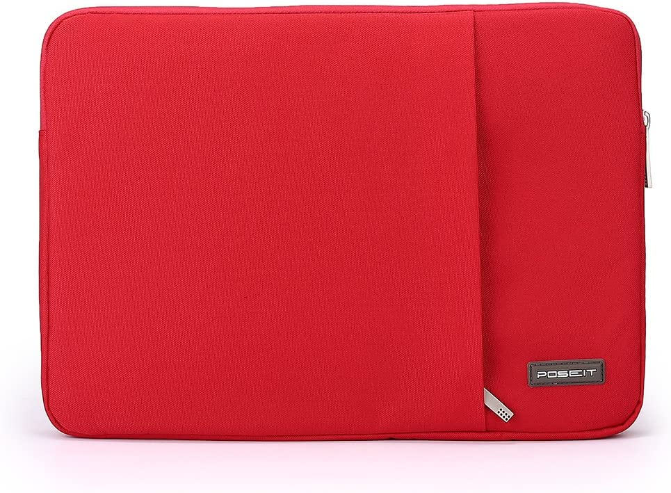 "Waterproof & Shockproof Laptop Tablet Notebook Sleeve Case Bag Pouch Cover for MacBook Pro Retina Air 11 12-inch iPad Pro Ultrabook Chromebook 10.6"" 11"" 11.6"" 12.1"" inch (Red)"