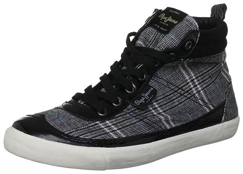 Pepe Jeans Berlin - Zapatillas de material sintético mujer: Amazon.es: Zapatos y complementos
