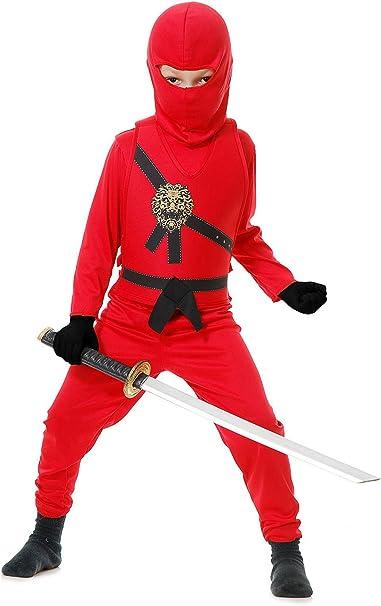 Red Ninja Avenger Costume for Kids