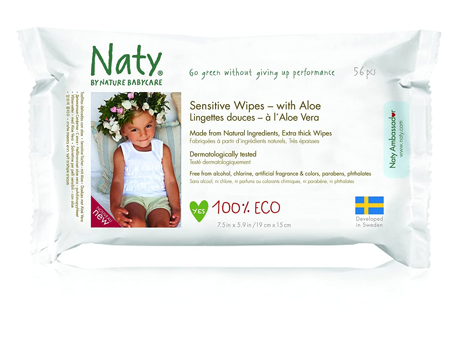 NATY by Nature Babycare ECO Wipes with Aloe 7330933245036