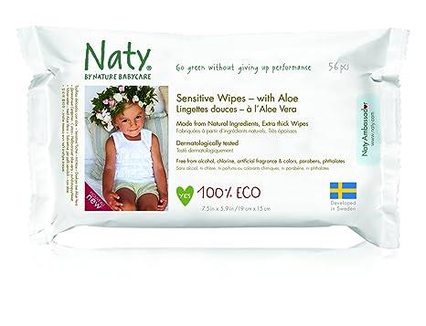 Naty Eco Toallitas con Aloe Vera 56 por paquete