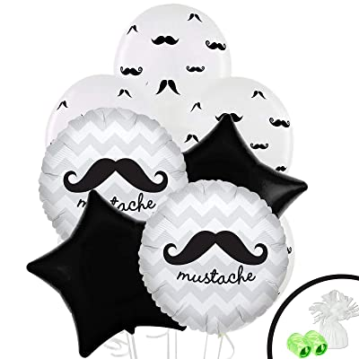 Mustache Man Childrens Birthday Party Supplies - Balloon Bouquet Decoration: Health & Personal Care