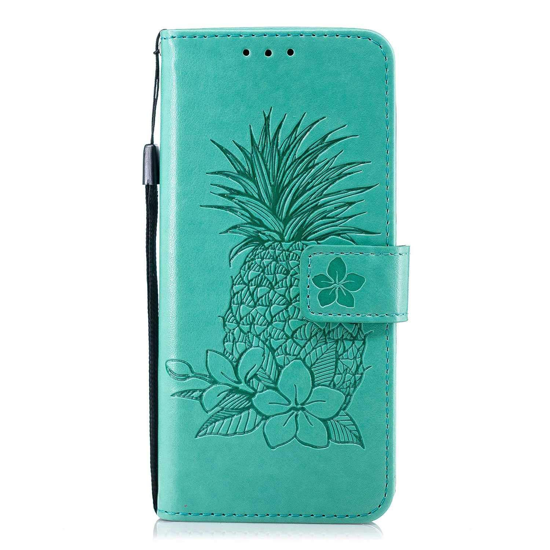 The Grafu® Coque Portefeuille pour Huawei P20 Lite, Housse en Cuir de Protection avec Emplacements pour Cartes et Monnaie, Anti Rayures Support Coque, Vert